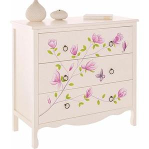 Home affaire Kommode, mit schöner Blumen-Handbemalung, Breite 89 cm