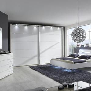 Komplett-Schlafzimmer 4-teilig | weiß | 250 cm | 217 cm | 67 cm | Möbel Kraft