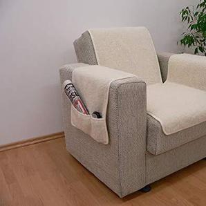 Armlehnen- und Sesselschoner Set Farbe: Ecru