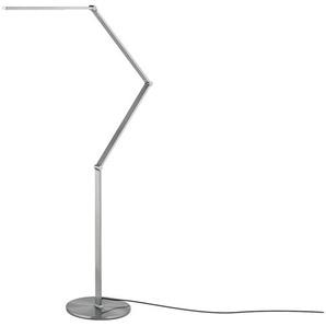 KHG LED-Stehleuchte ¦ silber ¦ Maße (cm): B: 32 H: 180