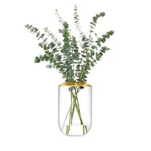 Lsa Vase Flower Space 25cm goldfarben mundgeblasen und handbemalt