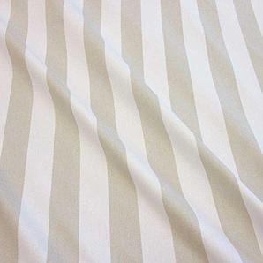 Stoff Baumwollstoff Meterware Blockstreifen beige stone weiß gestreift Streifen Kanada