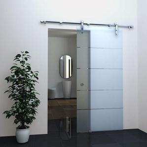 Glas Schiebetür STRIPES in 77,5 x 205 cm - GLASDEALS