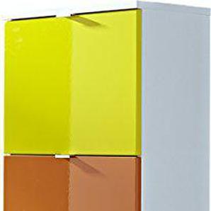 Germania 8795-84 4-tlg. Schuhschrank-Set Colorado in Weiß (Gelb/Orange/Rot), 53 x 132 x 30 cm (BxHxT)