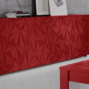 Lc Sideboard »Prisma«, rot, pflegeleichte Oberfläche, FSC®-zertifiziert