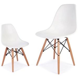 Kinder Stuhl Eames DSW - Weiß