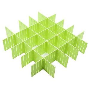 Wefond 8pcs DIY Plastikfach Organisator Justierbare Fach Teiler für Haus Tidy Closet, Socken, Unterwäsche, Büroschulbedarf, Küchegerätwerkzeuge (Grün)