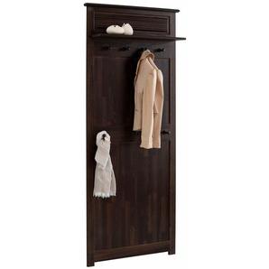 Home affaire Garderobenpaneel »Rauna« aus massiver Kiefer, in 2 Größen, braun