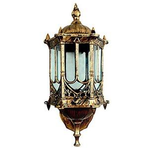 YMXJB European Style Retro Vintage Wand-Laterne-Portal-Licht Garten Balkon Lampe für E27 Birnen Innen / Außen