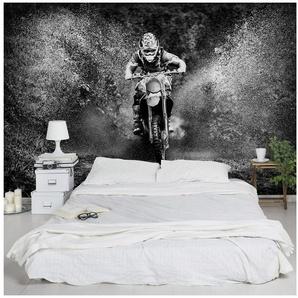 Bilderwelten Vliestapete Quer »Motocross im Schlamm«