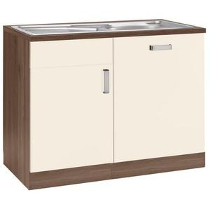 wiho Küchen Spülenschrank »Tacoma« Breite 110 cm, inkl. Tür/Sockel für Geschirrspüler, gelb