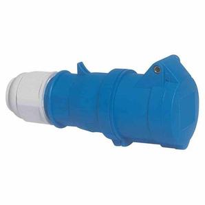 BALS Quick-Connect mit MULTI-GRIP CEE-Kupplung, 3p, 16A, IP44, 230V (50+60Hz) blau, 6h, schraublose Klemme, gerade, Kunststoff, Verschraubung