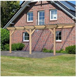 KARIBU Terrassendach »Premium Gr. B«, Breite 512 cm, in verschiedenen Tiefen, gerade Kopfbänder