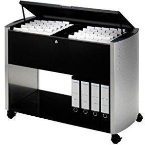 Durable 3080121 Design Line Hängemappenwagen 100 Top, anthrazit/metallic silber