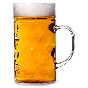 Bierkrug aus Kunststoff mit Griff im deutschen Stil von bar@drinkstuff