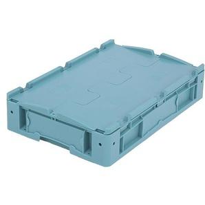 BITO-Lagertechnik Kleinladungsträger KLTD mit Deckel / KLTD64120D 600x400x120 türkis Deckel Doppel