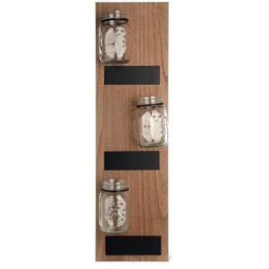 Dekoboard mit Gläsern, 20x10x71cm, natur
