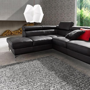 Places Of Style Eck-Sofa mit Bettfunktion, schwarz