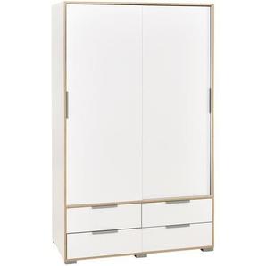 Kleiderschrank Line (2-türig, weiß foliert)