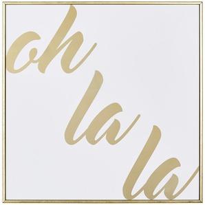 Gerahmtes Bild  Oh La La ¦ gold ¦ Maße (cm): B: 30 H: 30 Dekoration  Bilder & Schilder » Höffner