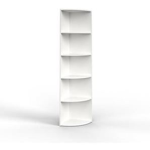 Vicco Eckregal 3 Dekore flexibel einsetzbar 5 Ablagen 180x40x40cm (Weiß)