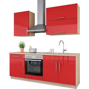 set one by Musterring Küchenzeile »Navaro« mit E-Geräten, Breite 210 cm, vormontiert
