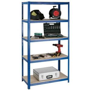 Schwerlastregal »Multitasker« 45 x 180 cm blau, OTTO Office, 90x180x45 cm
