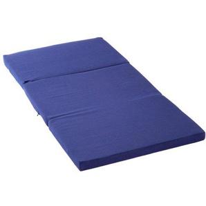 Kettler Reisebettmatratze für Kinder - faltbares Reisebett mit Schutzhülle - Matratze 60x120 - atmungsaktive, waschbare Klappmatratze aus Baumwolle mit Fliesfüllung - blau