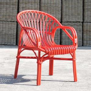 Armlehnstuhl in Rot modern