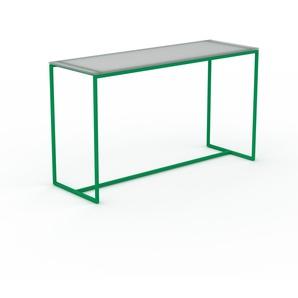 Konsolentisch Kristallglas satiniert - Eleganter Konsolentisch: Beste Qualität, einzigartiges Design - 121 x 71 x 42 cm, konfigurierbar