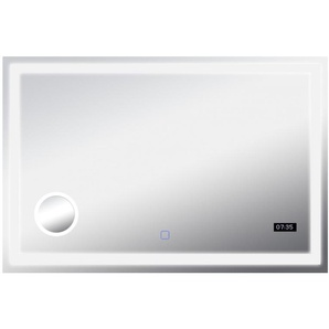 LED Spiegel BHP B991546 Touch Funktion 3-fach Lupe LED-Uhr Beleuchtung