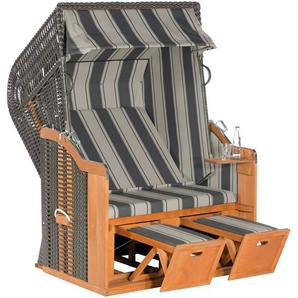 SUNNY SMART Strandkorb »Rustikal 250 Basic 640«, BxTxH: 125x90x160 cm, anthrazit