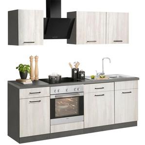 wiho Küchen Küchenzeile »Esbo«, mit E-Geräten, Breite 220 cm