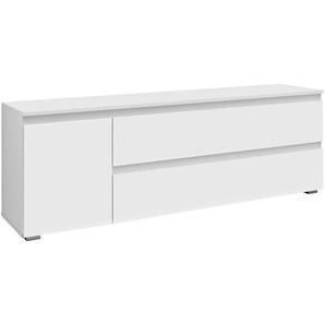 Carryhome: Lowboard, Weiß, B/H/T 160 55 40