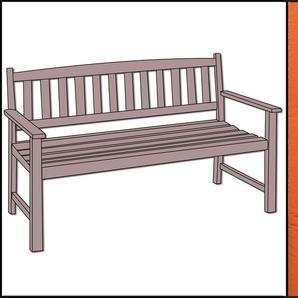 Polsterauflage für 3-Sitzer Bank von GO-DE, Serie 20, 142x46x6cm