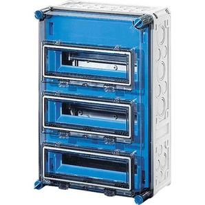 HENSEL MI1333 Kleinverteiler, Aufputz, 3x12TE, Kunststoff, IP65, 300x450x185mm, ET93mm, DIN-Schiene, geschlossen