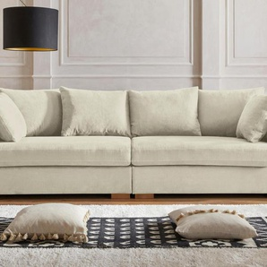 Guido Maria Kretschmer Home&living Big-Sofa »Arles«, beige, Inkl. Zierkissen
