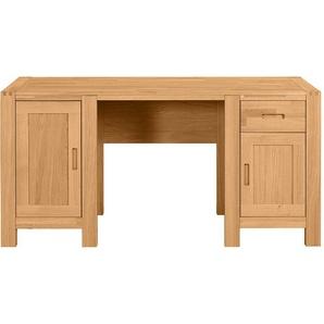 Holz Schreibtisch aus Eiche lackiert 150 cm breit