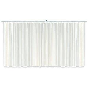 Haus und Deko Voile Dekoschal Gardine Emotion weiß Organza Vorhang Kräuselband klassisch transparent kurz mittel oder lang Store #1309 (900x245)