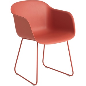 Muuto Fiber Sled Stuhl Dusty Red (b) 51 X (t) 58 X (h) 76.5 Cm