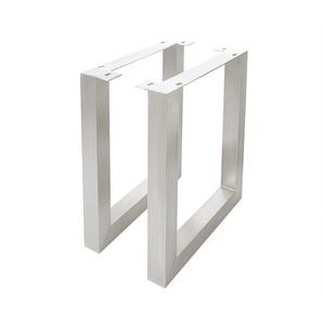 Tischbeine Live-Edge Baumtisch 7,5x7,5 cm Edelstahl breit (2er Set), Live-Edge Einzelteile, Baumkantenmöbel, Massivholzmöbel, Massivholz, Baumkante, Wolf Live Edge