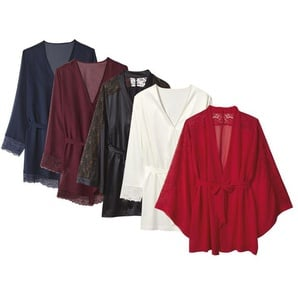 ESMARA® Lingerie Damen Kimono / Morgenmantel