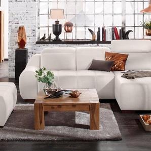 Premium Collection By Home Affaire Ecksofa »Spirit« mit Schlaffunktion, beige, komfortabler Federkern, hoher Sitzkomfort