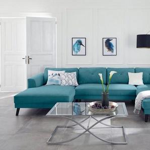 Guido Maria Kretschmer Home&Living Wohnlandschaft »Bilge«, blau, Luxus-Microfaser