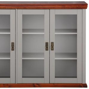Home affaire Sideboard (3-trg.), grau, Gr. onesize, HOME AFFAIRE, Material: Kiefernholz, Metall