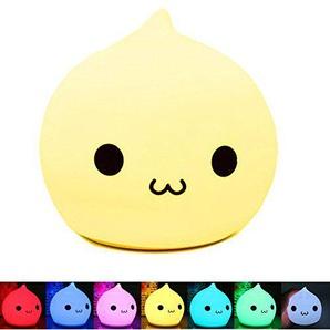 BestFire Led Silikon Katze Nachtlicht, 7 Farbe Nacht Beleuchtung, Nachtlampe, Touchlampe, Kinderlicht als Weihnachten Geschenk perfekt für kinder