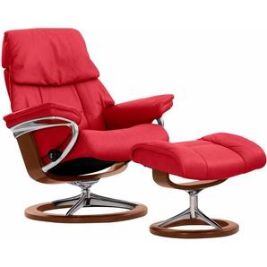 Stressless® Relaxsessel »Ruby« (Set, 2 tlg), mit Hocker, mit Signature Base, Größe L, mit Schlaffunktion