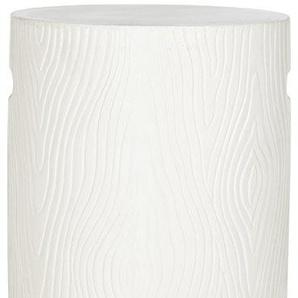 Safavieh Adorjan Innen/Außen Beton Hocker, Pulver Stein, Ivory,37 X 37 X 41.91 cm