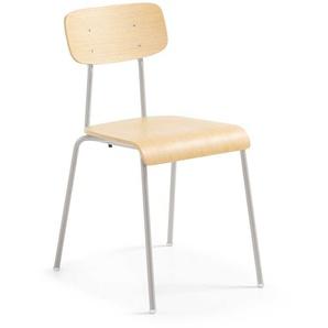 Stuhl aus Schichtholz Stahl Hellgrau (4er Set)
