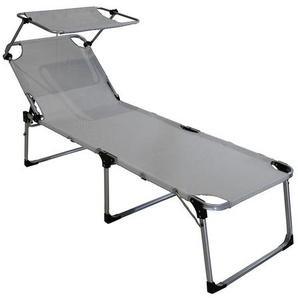 gardissimo Gartenliege XL Aluminium/Textilene Silber/Grau